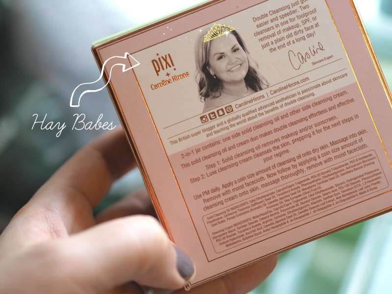 Caroline Hirons Cleanser with PIXI Beauty