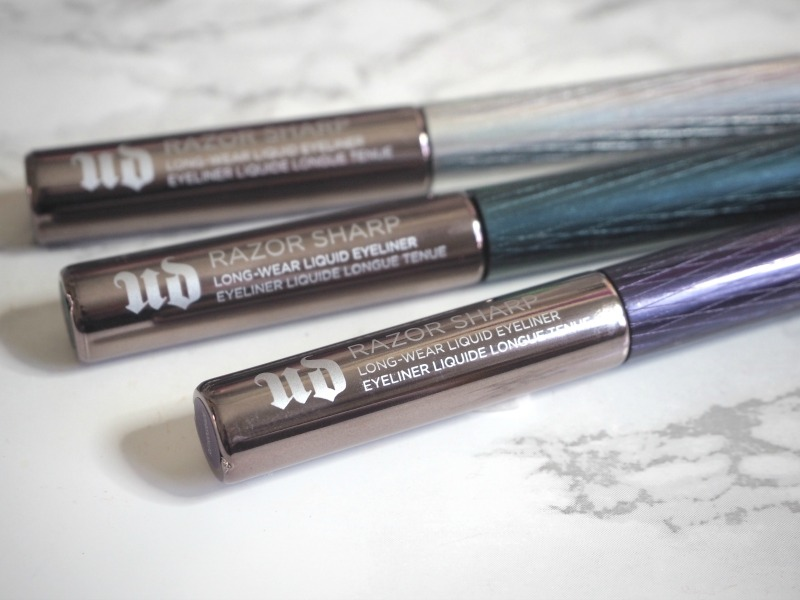 Urban Decay Razor sharp long wear liquid eyeliners