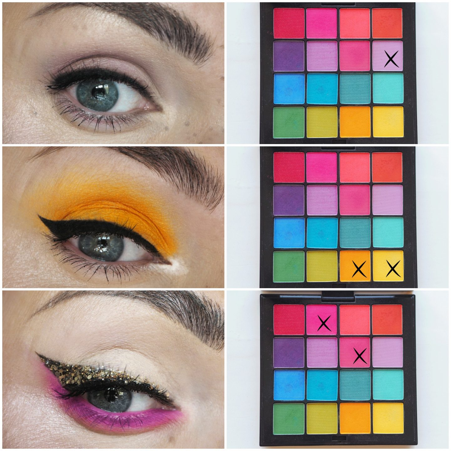 NYX Professional Ultimate shadows palette Brights Review