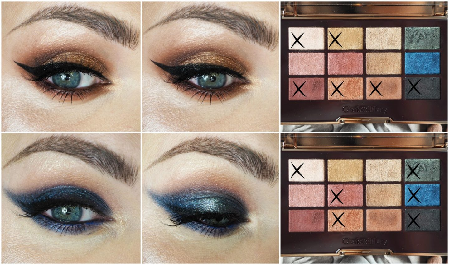 Charlotte Tilbury icons eyeshadow palette eye makeup looks and tutorial