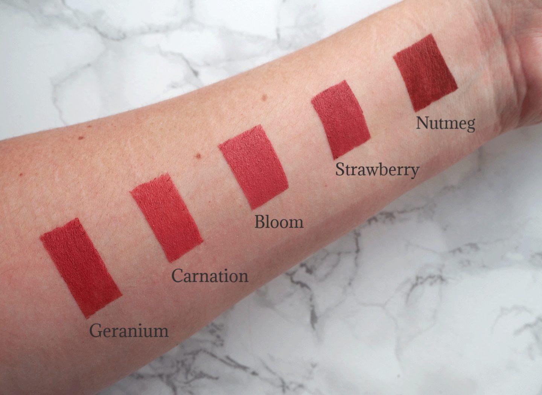 Bareminerals barepro lipstick swatches