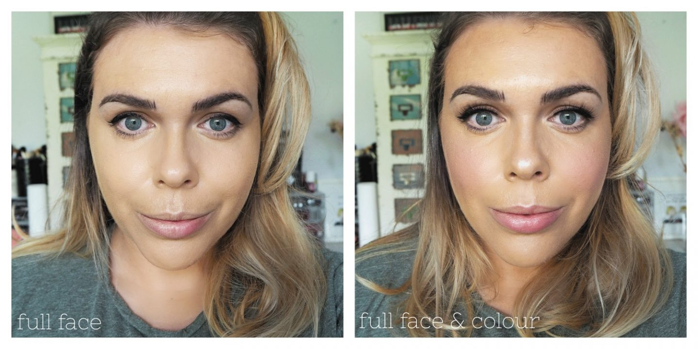Too Faced Peach perfect comfort matte foundation before and after
