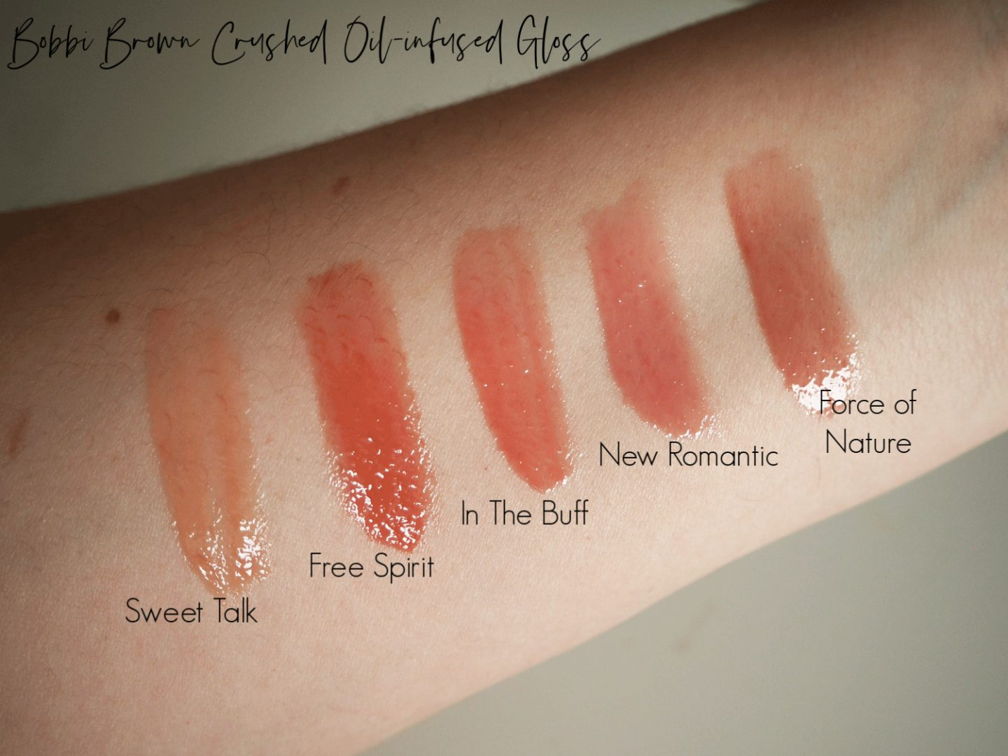 Bobbi brown crushed oil infused gloss review and swatches