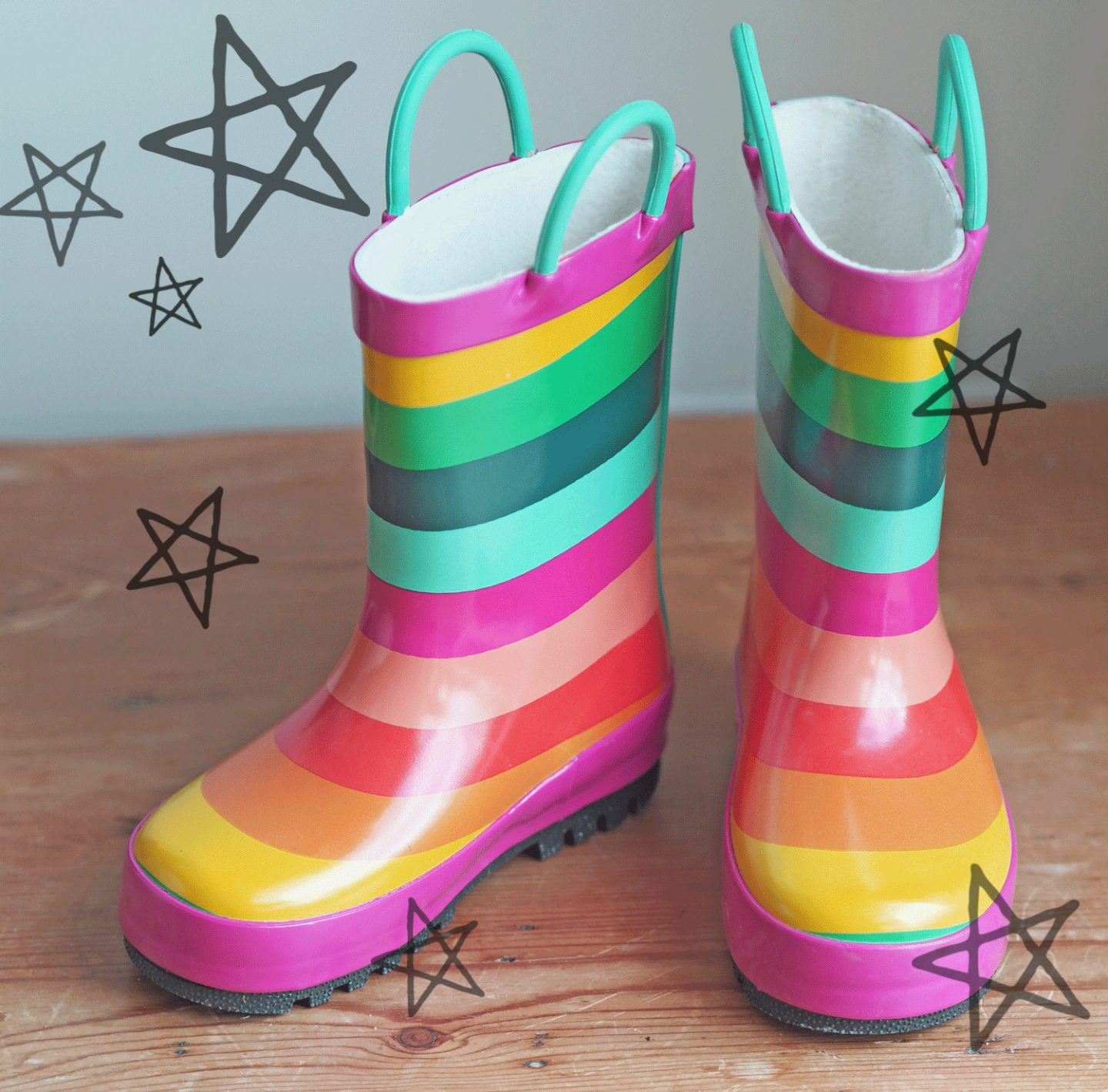 next toddler rainbow wellies