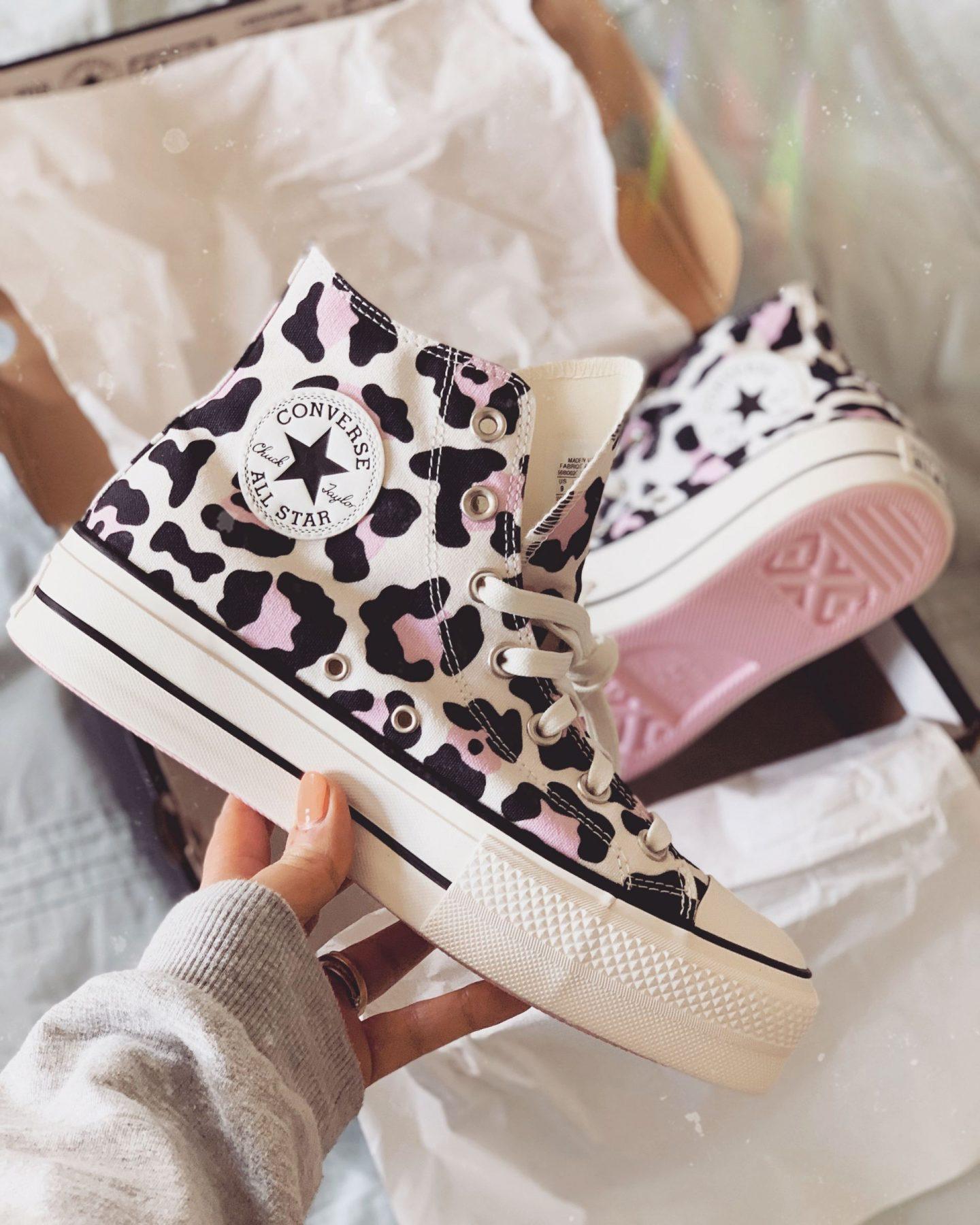 pink leopard print high top converse ASOS
