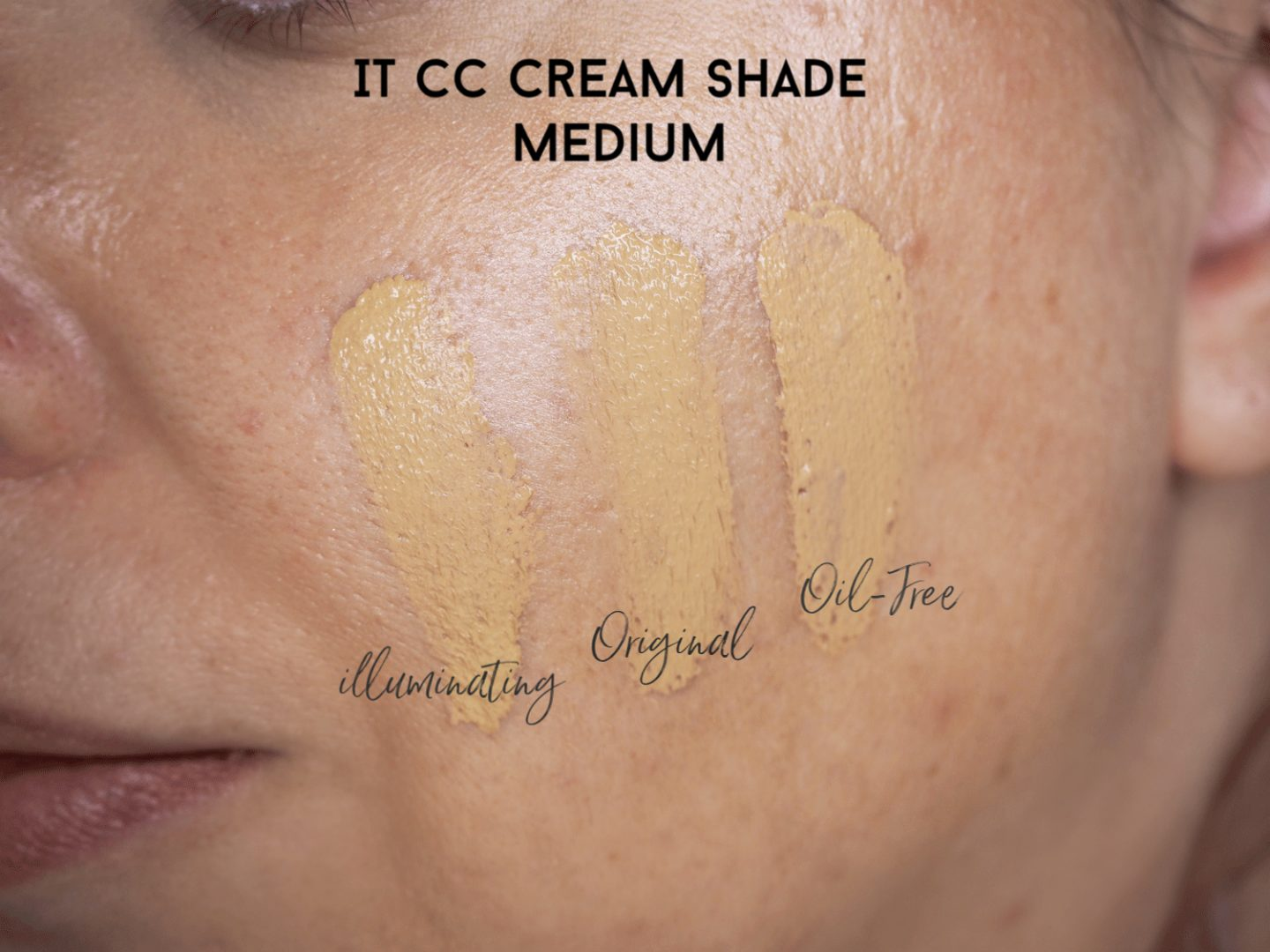 It CC cream medium swatches