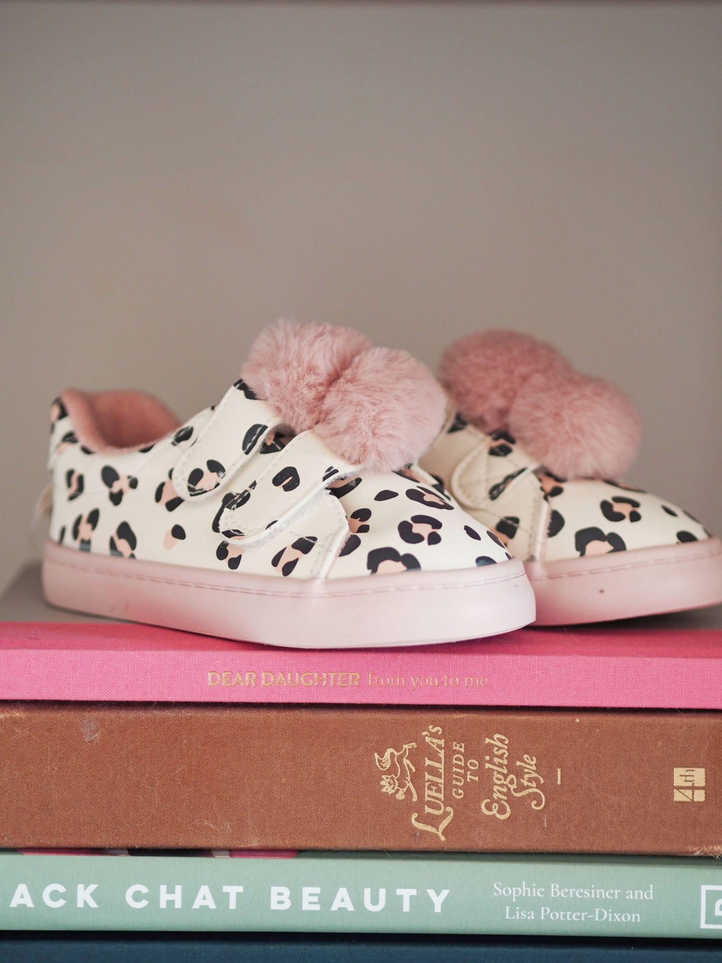 pink leopard print toddler trainers