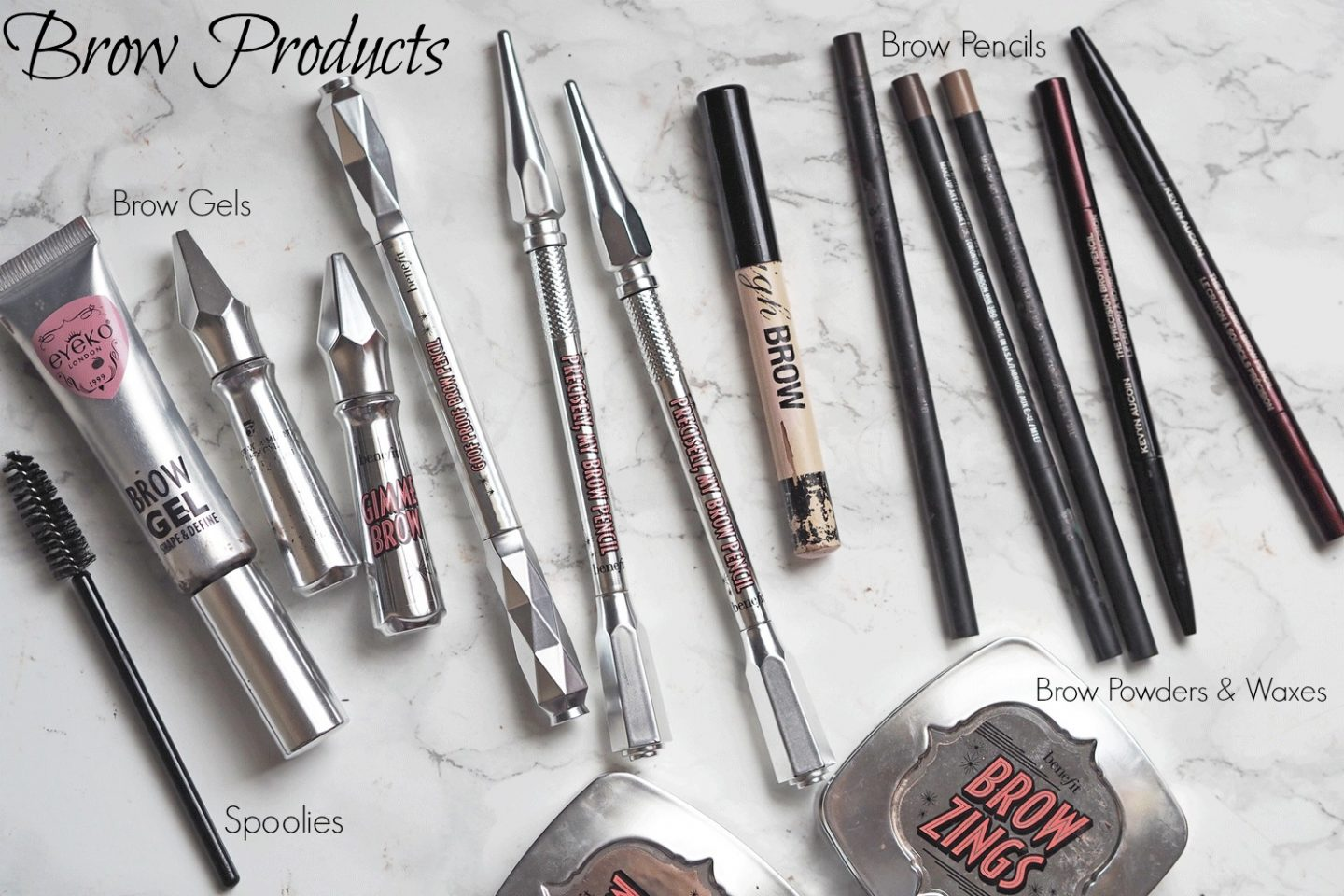 best brow products for makeup artist in kit