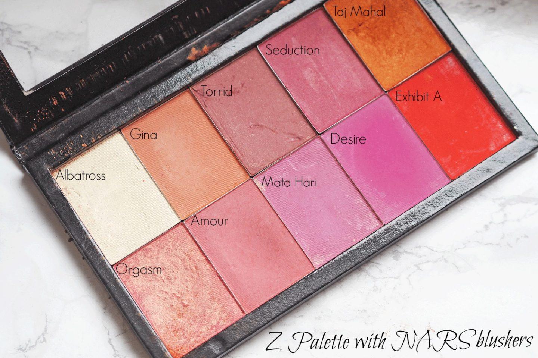 NARS custom blusher palette