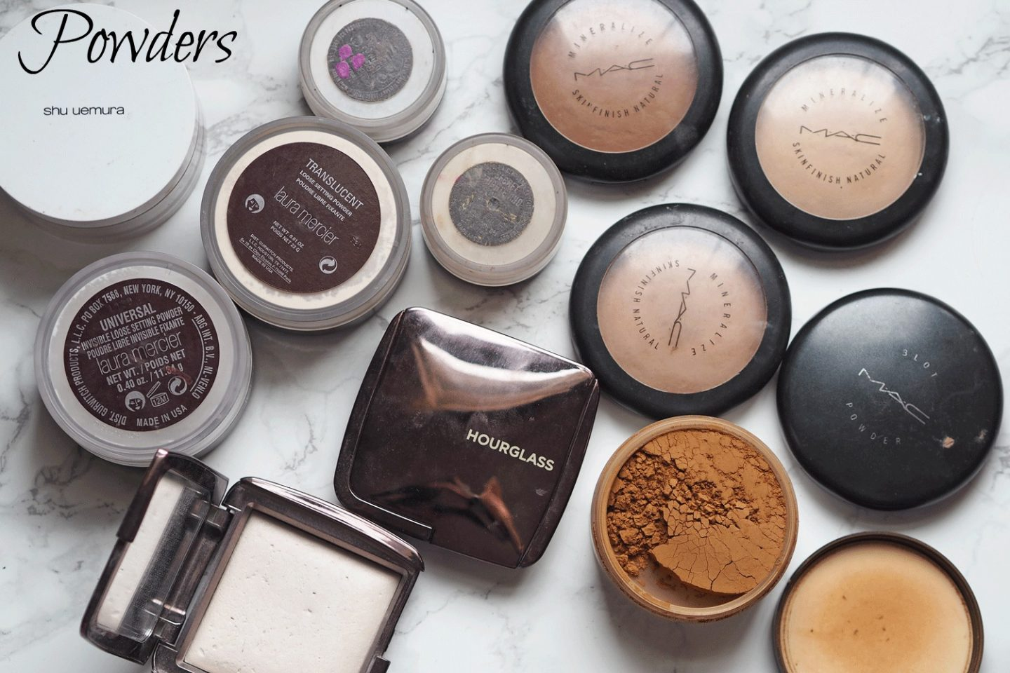 MAC setting powders
