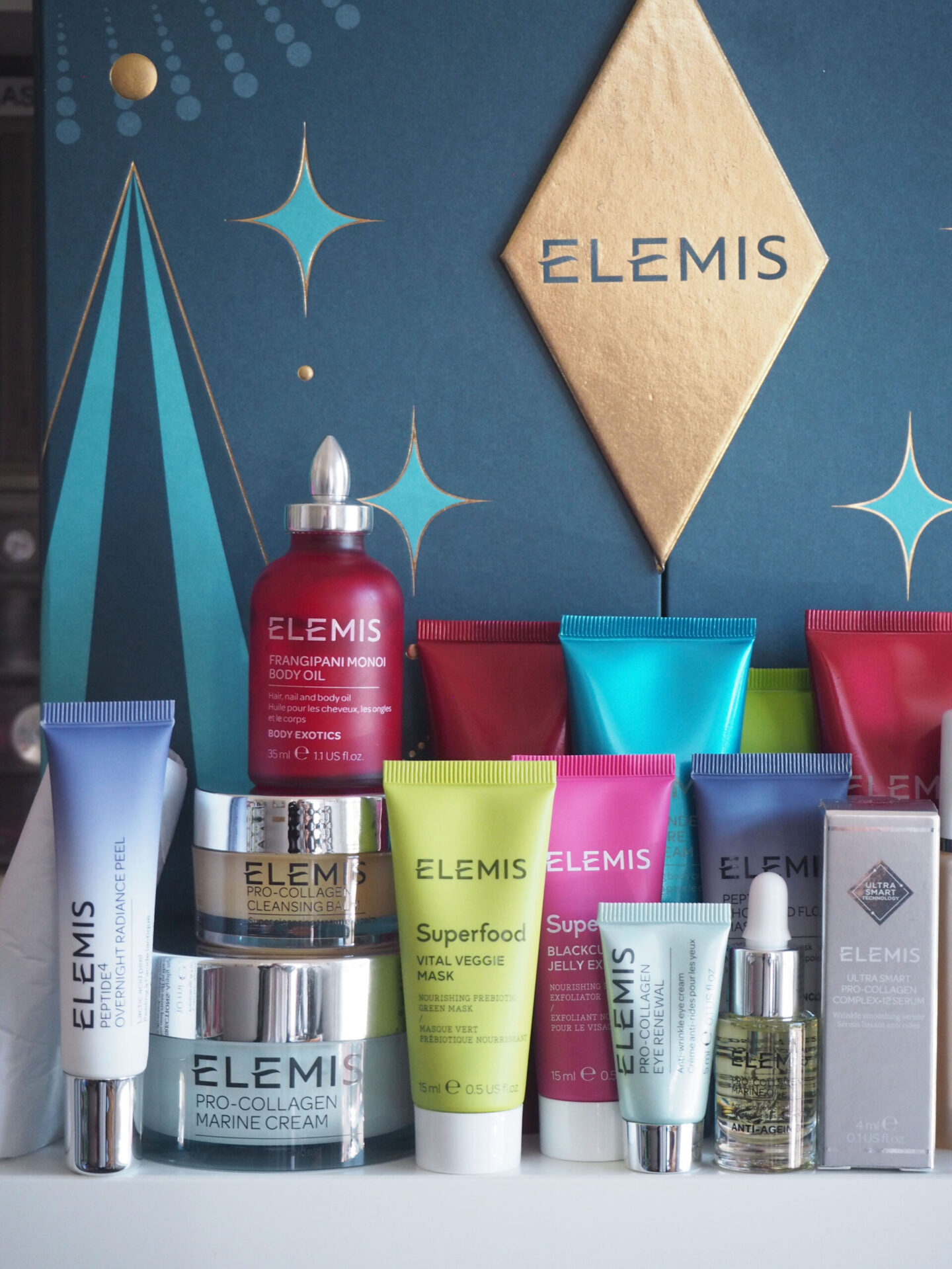 elemis advent 2020 25 days of spectacular skin