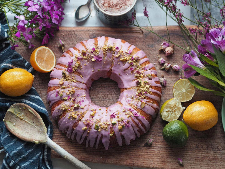 Rose pistachio bundt cake recipe
