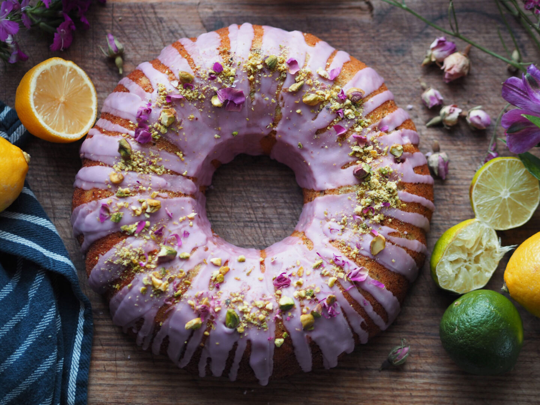 pistachio rose bundt cake