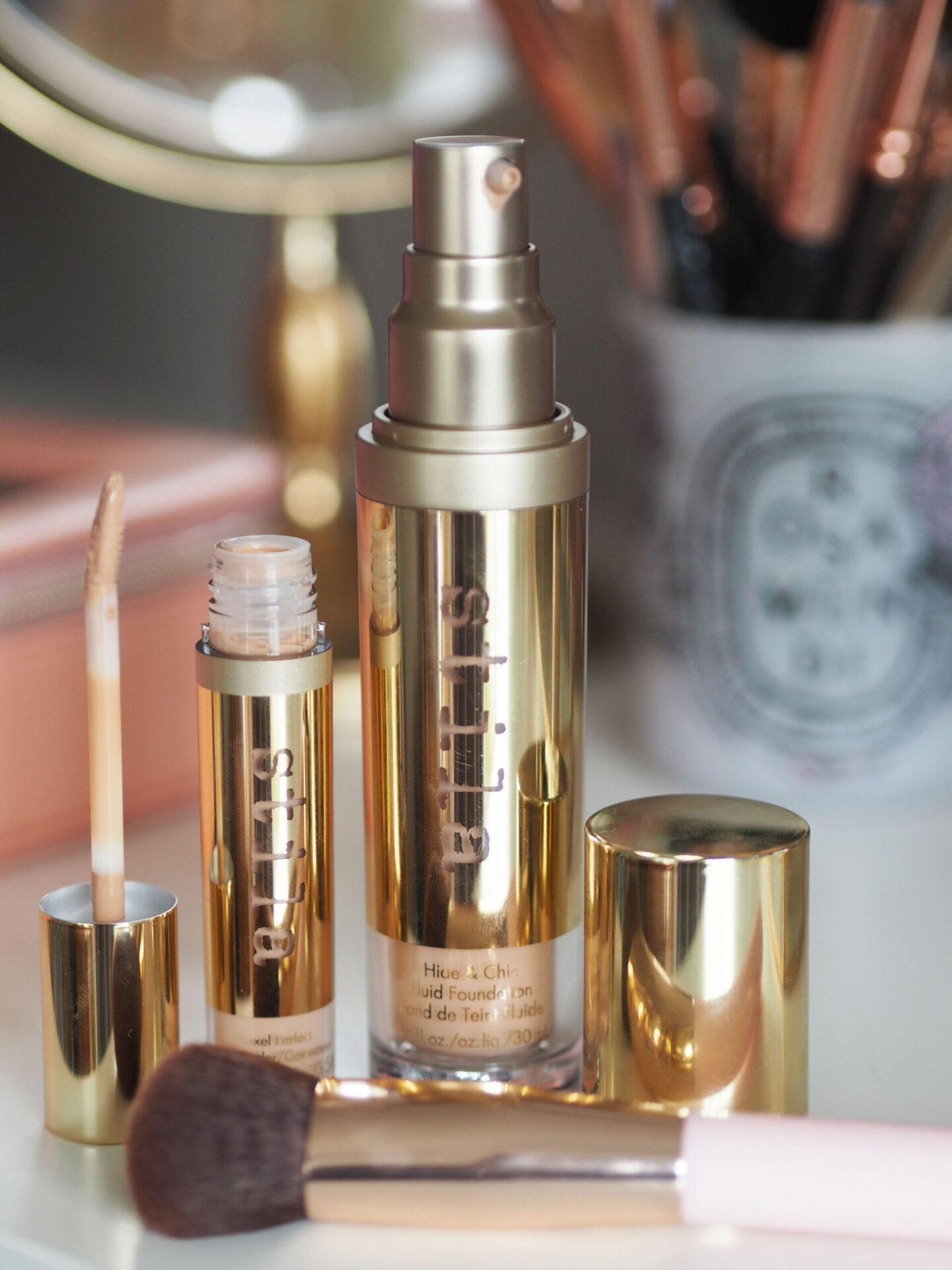stila hide and chic fluid foundation review before after