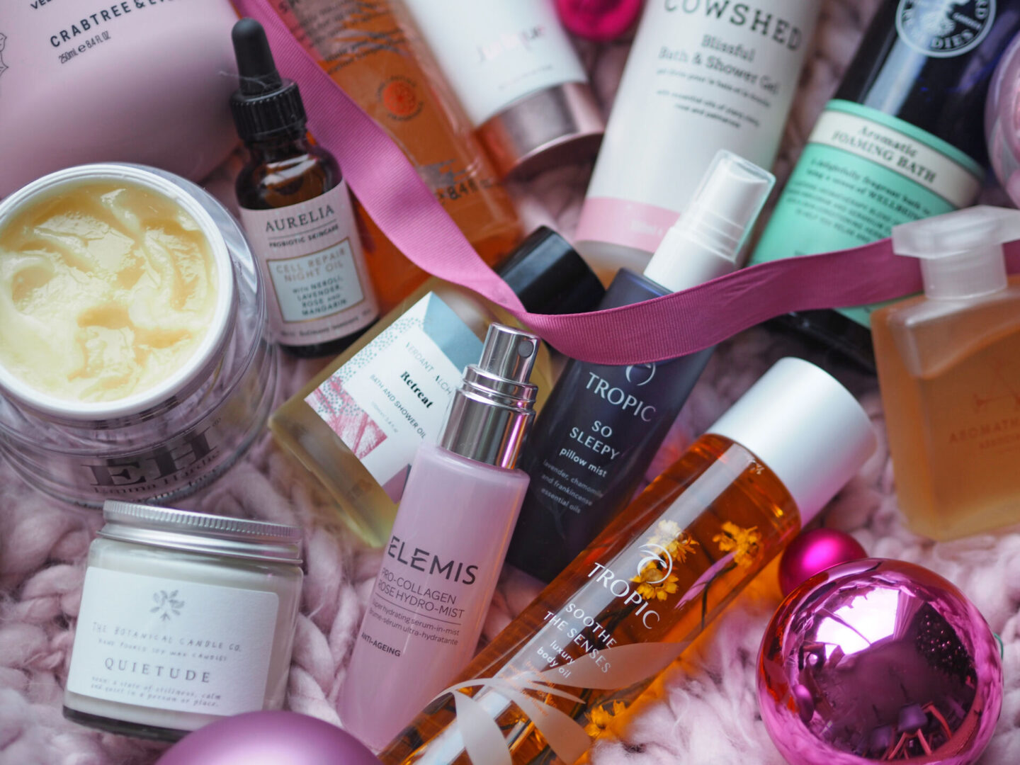 the best pamper products for Christmas gifts