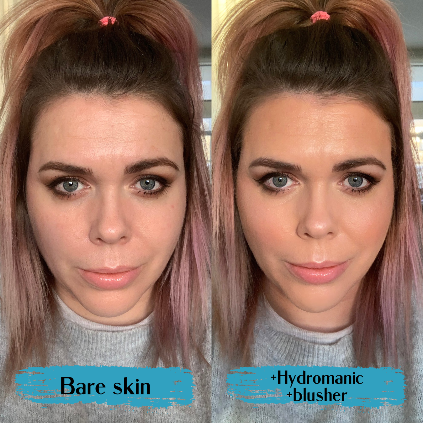 Urban Decay Hydromaniac tinted glow hydrator review before after