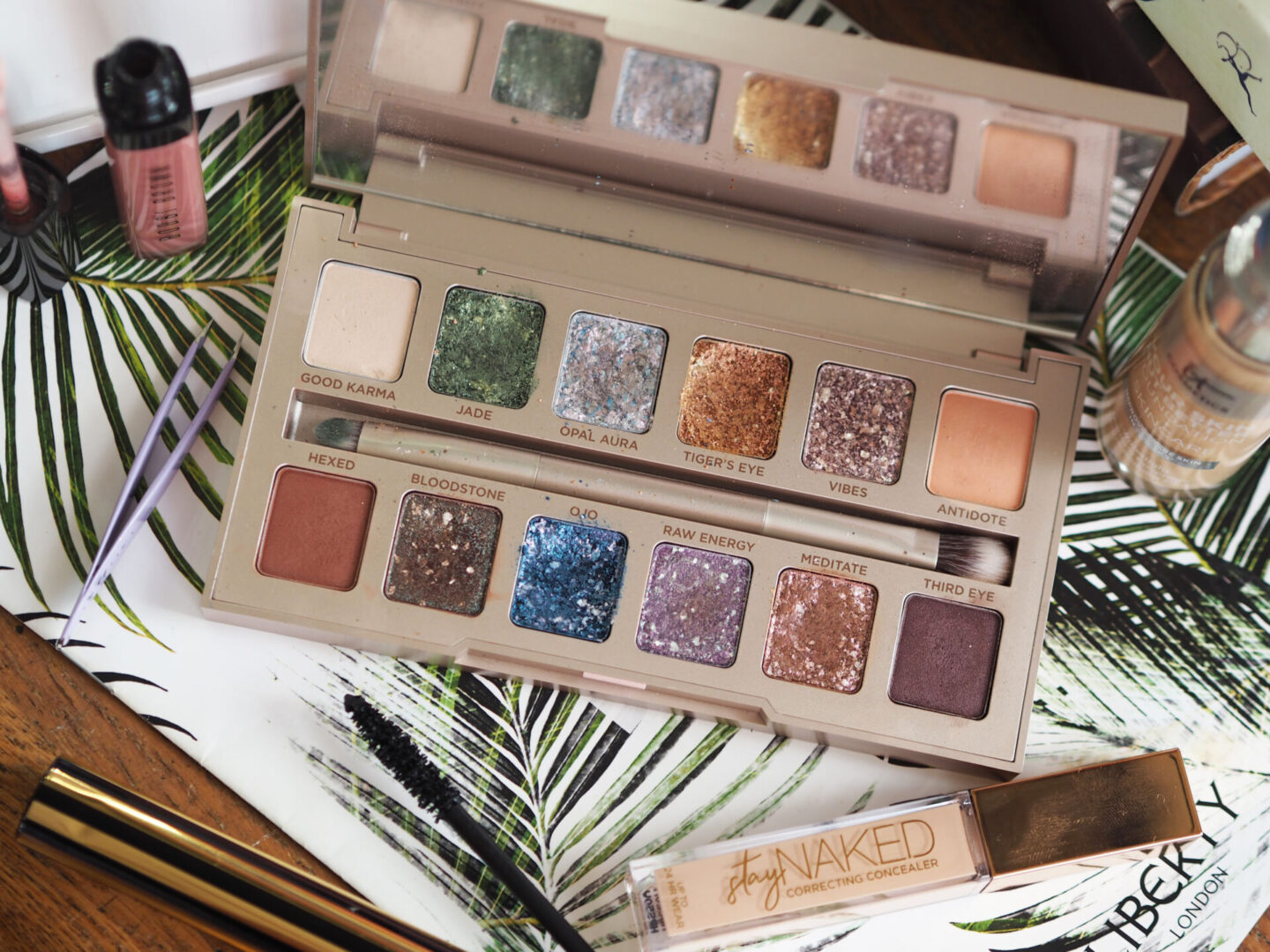 urban decay stoned vibes palette swatches review