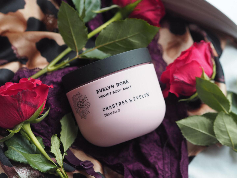 crabtree & evelyn evelyn rose velvet body melt