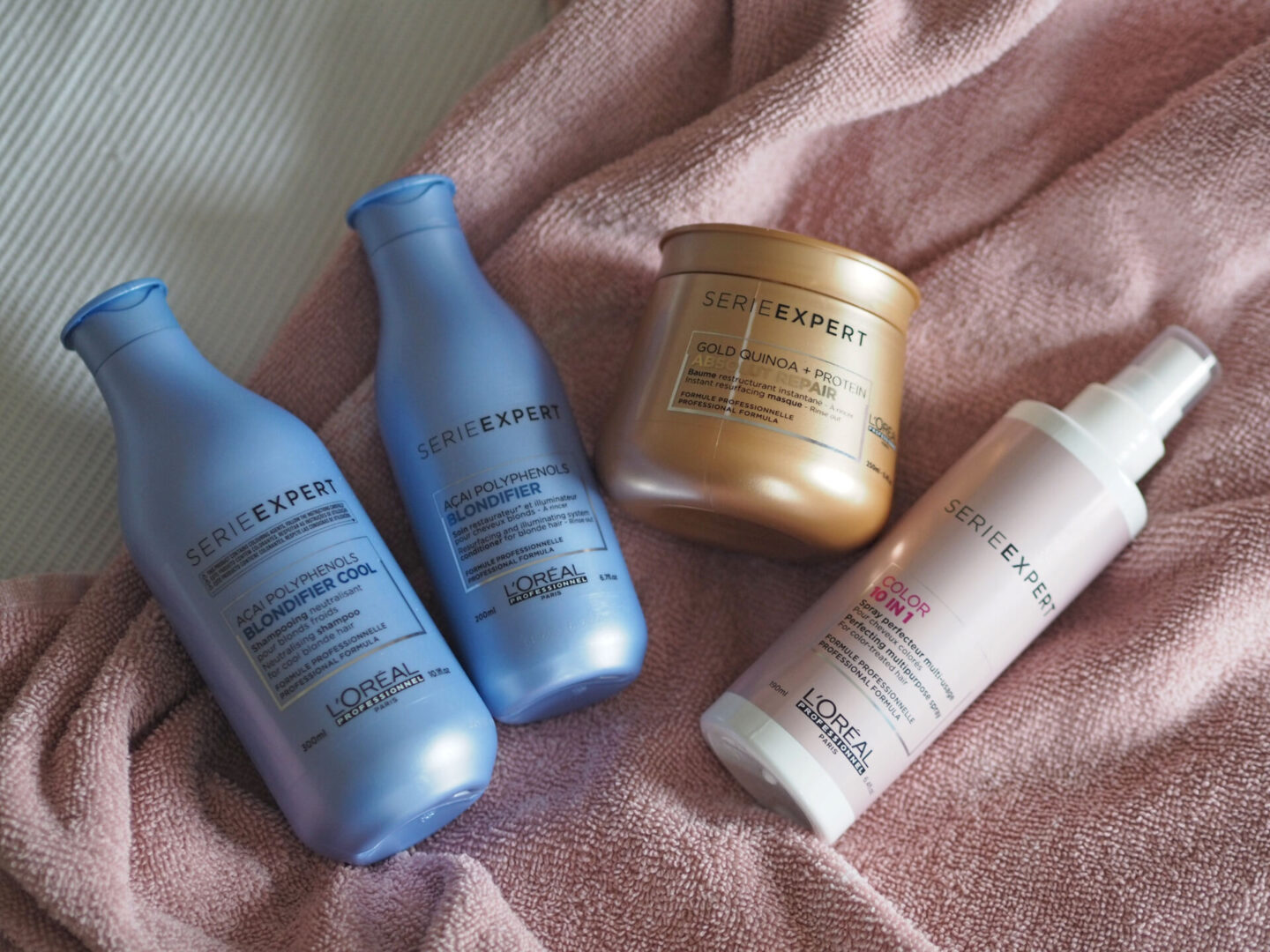 L'Oréal Professional Expert Serie haircare range for bleached damaged hair