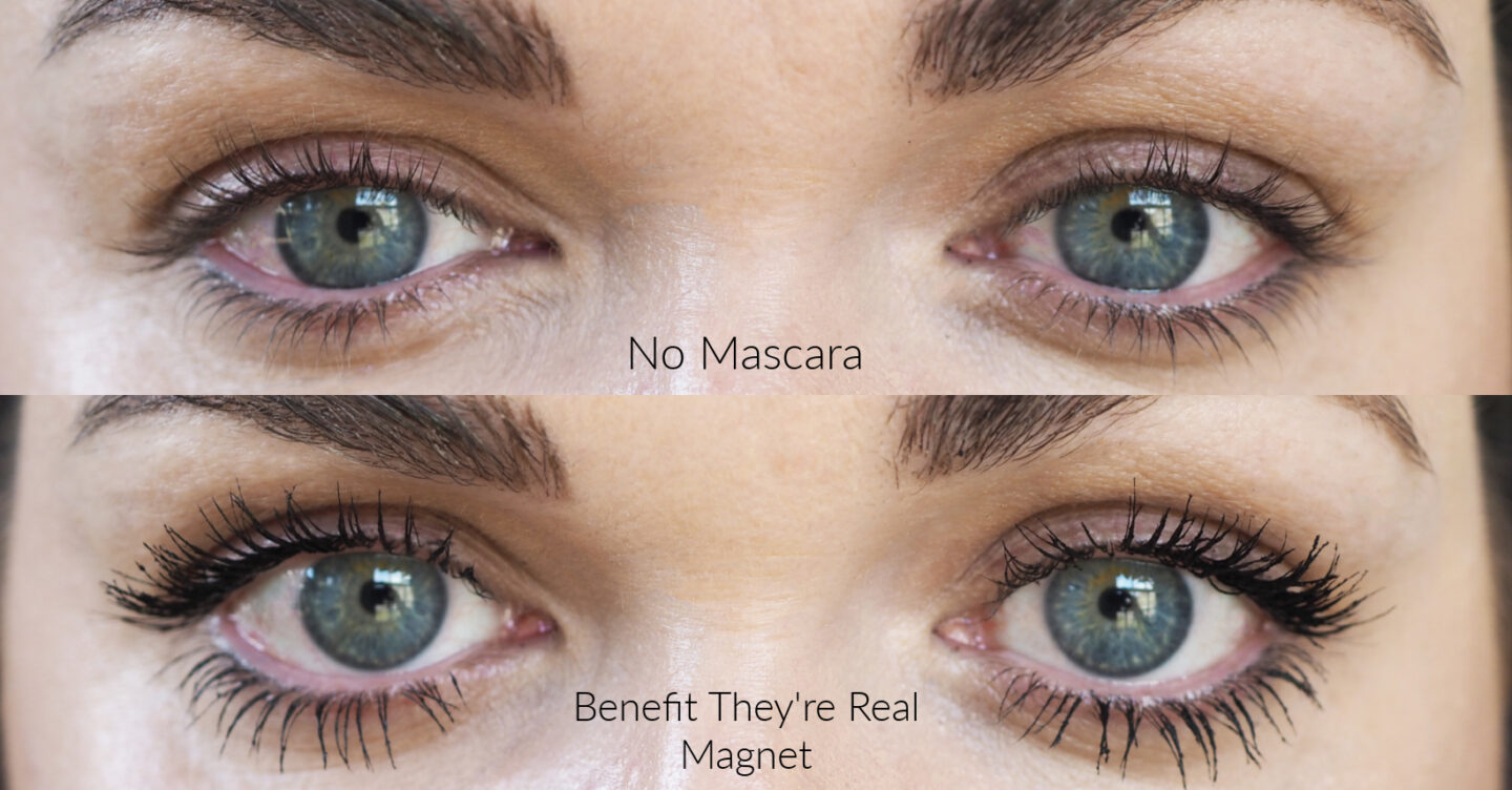 Benefit They're Real magnet mascara review before after