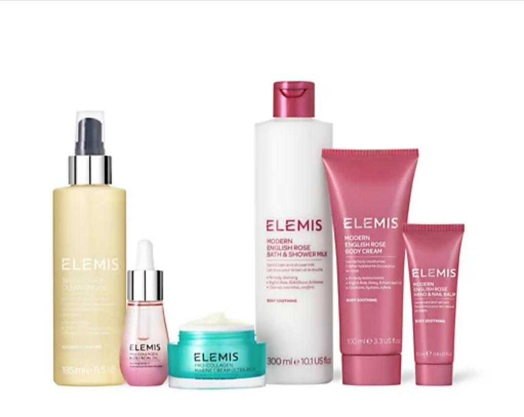Elemis 6 Piece pro-collagen Rose nourish and glow collection