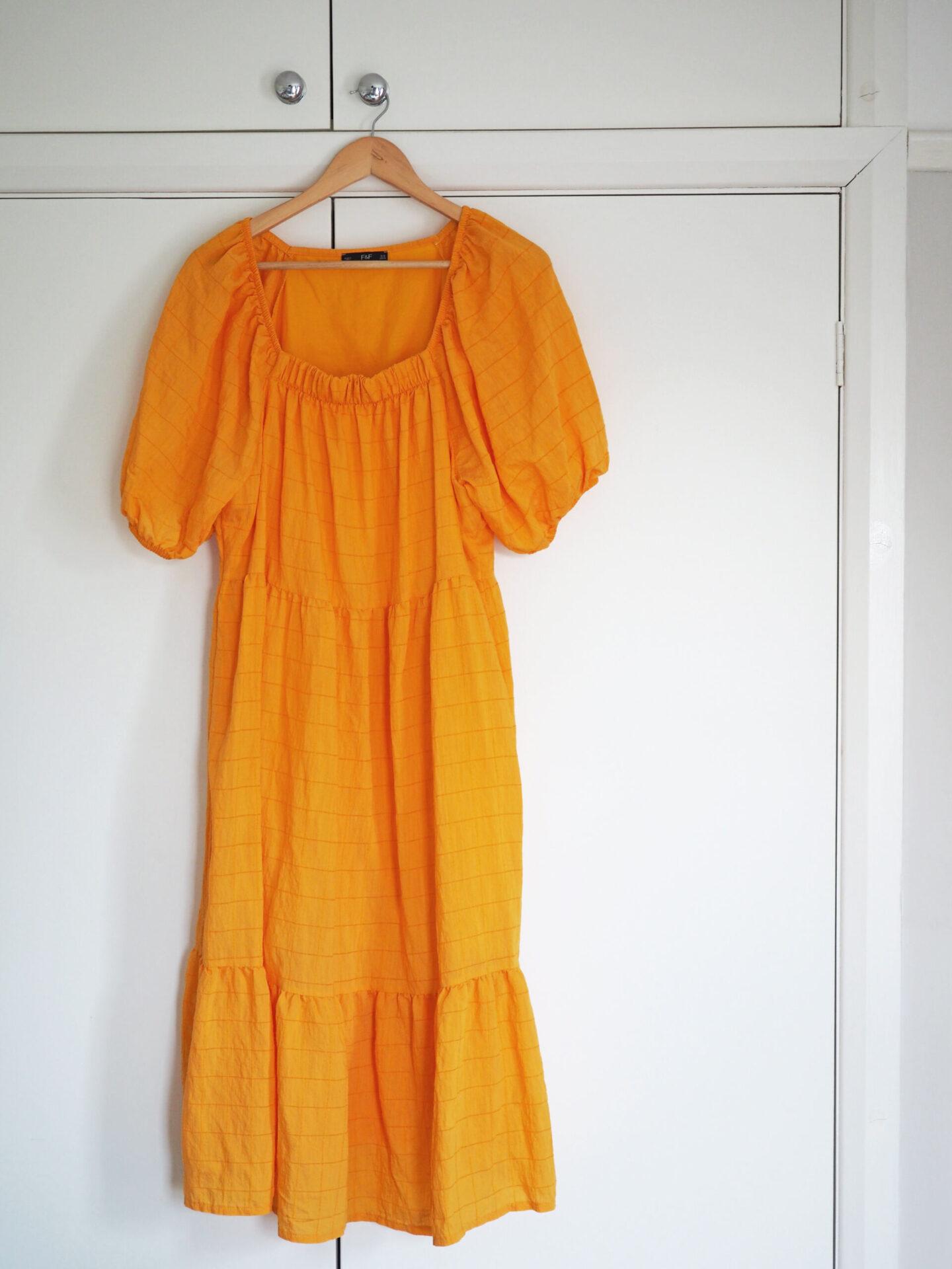 tesco f&f yellow dress summer 2021