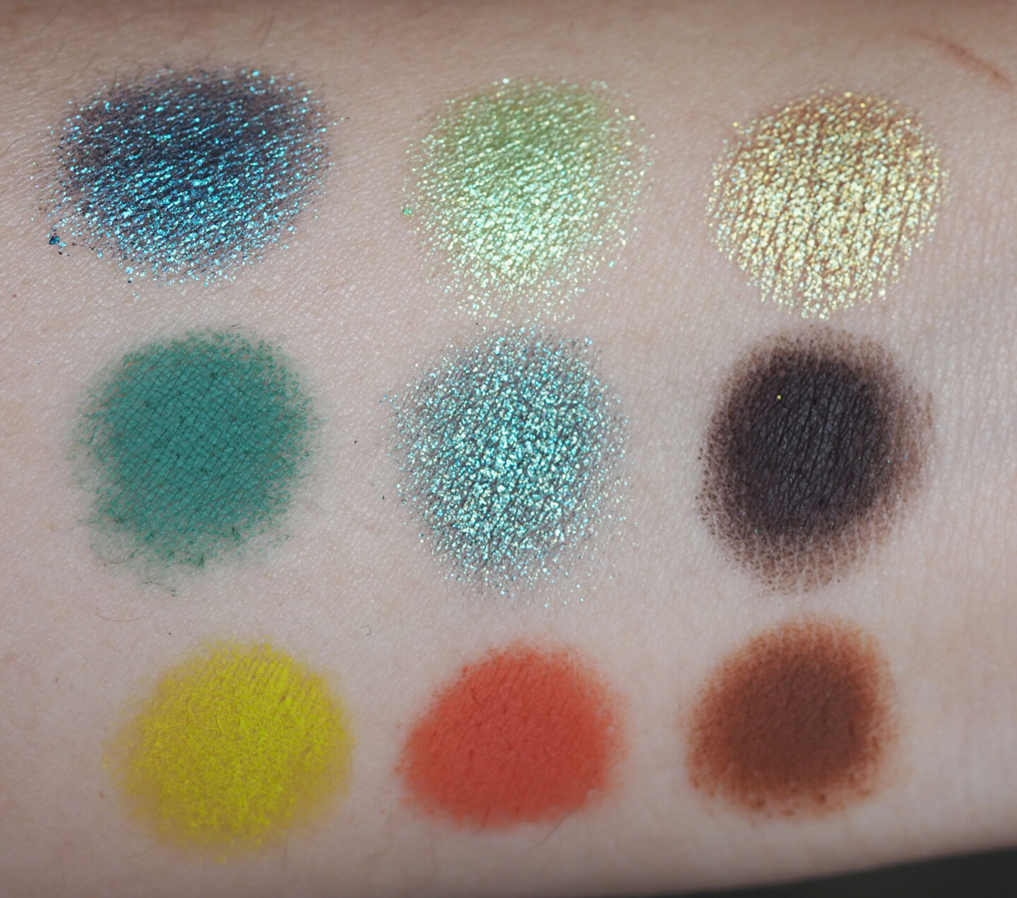 huda wild obsessions python palette swatches