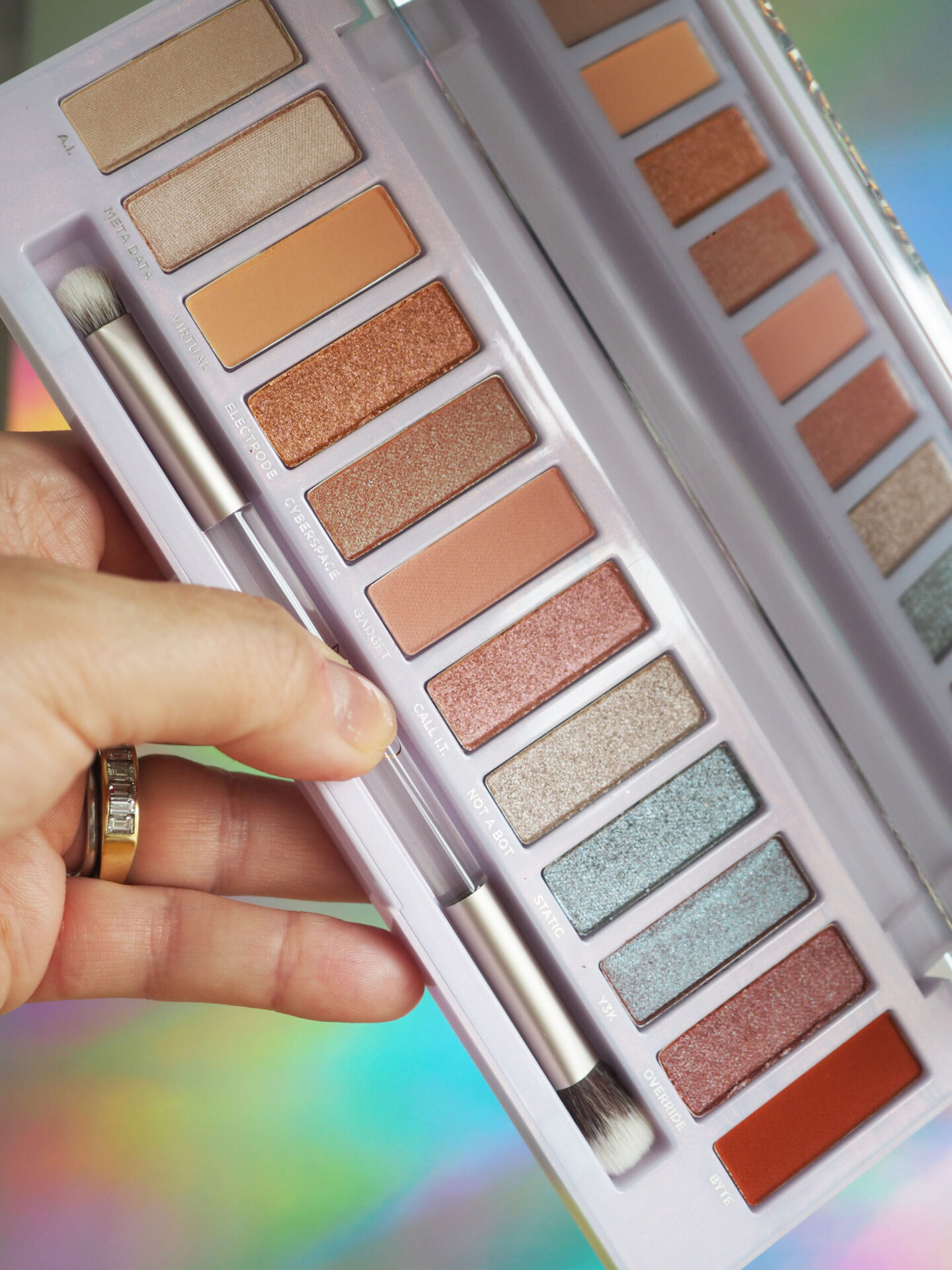 urban decay naked cyber eyeshadow palette swatches review